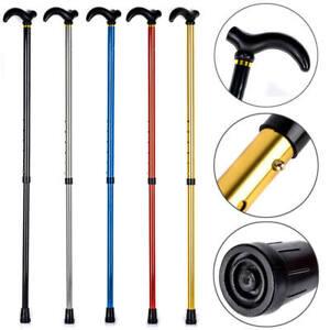 Aluminum Metal Hiking Pole Telescopic Walking Cane Adjustable Stick Travel Cane