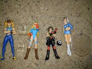 Capcom Girls Loose 4 Figure Lot Chun-li Cammy Akira Rival Schools