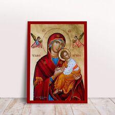 Panagia Theotokos Amolyntos with Jesus Greek byzantine orthodox icon handmade