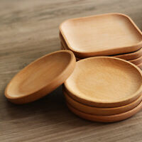 1PC Wooden Plate Square Round Beech Japanese Style Snack Dish Candy Cake Decor