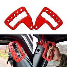 NEW Front Red Aluminum Grab Handle for Jeep Wrangler JK JKU Unlimited Rubicon...