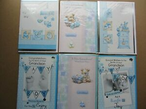 Birth of a Baby Boy greetings cards. Various designs. Select one card.