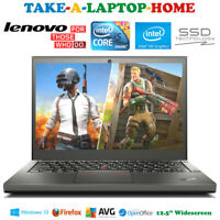 Very Fast Lenovo Laptop Core i5 2.6Ghz Windows10 Pro Gaming 240Gb SSD - Boxed