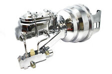 """58-64 Chevy Impala Chrome 8"""" Booster w/ Master Cylinder And Proportioning Valve"""