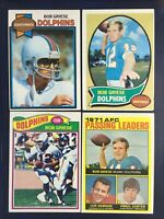 1970 TOPPS #10 BOB GRIESE DOLPHINS 1977 1979 4 card lot HOF