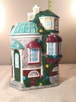 Vintage Mercuries 1985 Cookie Jar 3 story house with Antique Shop downstairs 11""