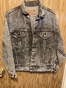 Levis acid wash jacket M