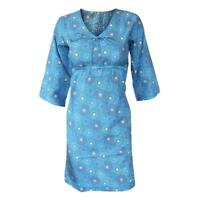Ex White Stuff Blue Summer Print Tunic Kaftan Beach Dress Size 8 10 12 14 16 18