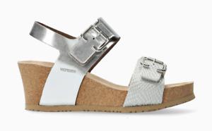 Mephisto Lissandra Nickel Silver Wedge Comfort Sandal Women's sizes 35-42 NEW!!!