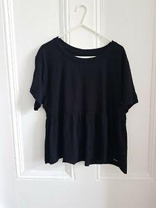 BNWT Hollister Babydoll Tshirt Black Size S
