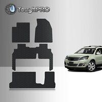 ToughPRO Floor Mats + 3rd Row Black For Chevrolet Traverse Bench 2009-2017