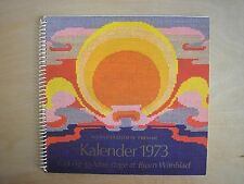 1973 HAANDARBEJDETS FREMME Cross Stitch Calendar BJORN WIINBLAD ArtDeco Patterns