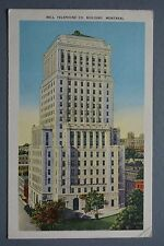 R&L Postcard: Bell Telephone Co Building Montreal Canada