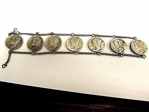 Chain Of Seven U.S. Mercury Silver Dimes