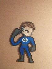 Reed Richards Fantastic 4 perler art necklace rave  edm edc sprite hama  kandi