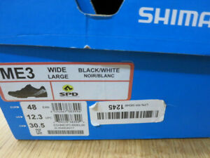 SHIMANO MOUNTAIN BIKE SHOES MENS SIZE 12.3  US, 48 EURO CYCLING BICYCLE SHOES