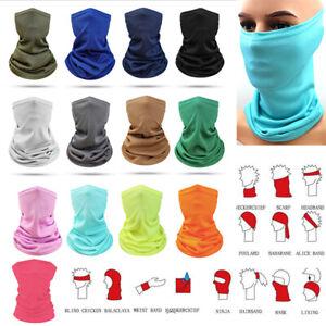 Face Mask Elastic Tube Bandana Cover Fashion Scarf Neck Multi-Use Wrap Gaiter