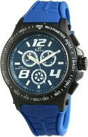 Time Tech Herrenuhr Blau Schwarz Chrono-Look Silikon Armbanduhr X227473000005