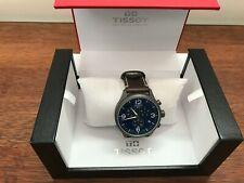 Tissot Chrono XL Brown Leather Strap Blue Dial Swiss Mens Watch T1166173604700