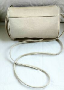 Esprit Vintage Bag, Leather, Crossbody, Cream