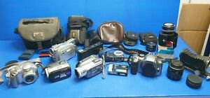 Bulk Lot of Cameras and Accessories - Faulty not working - Free Postage