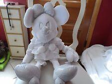 "Disney Store exclusive Jumbo Huge 24"" Winter White sparkle Minnie Mouse plush"