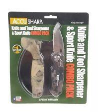 AccuSharp Knife/Tool Sharpener & Sport Folding Knife Combo Camouflage 042C Camo