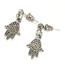Hamsa Earrings, Hand Of Fatima Earrings, Silver Earrings, Hamsa Jewelry Gift
