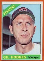 1966 Topps #386 Gil Hodges EX-EXMINT+ Washington Senators FREE SHIPPING