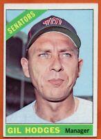 1966 Topps #386 Gil Hodges EX-EXMINT+ Washington Senators FREE SHIPPING