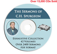 C H Spurgeon 2400+ Bible Sermons on CD PDF Ebook-Christian Preaching Commentary