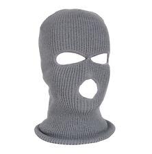 3 Hole Face Mask Ski Mask Winter Cap Balaclava Hat Army Warm Thermal
