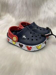 NWT Crocs Disney Mickey Mouse Light Up Crocband Toddler Size C8  Lights!