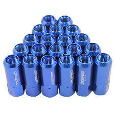 M14X1.5MM ALUMINUM TUNER RACING JDMSPEED EXTENDED FORGED 60MM LUG NUTS 20PC BLUE
