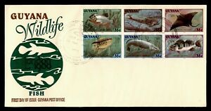 DR WHO 1980 GUYANA FDC FISH  C224741