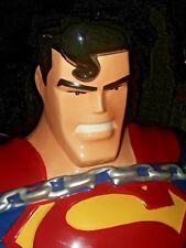 SUPERMAN COOKIE JAR-WARNER BROTHERS STUDIO STORE-1997-Excellent NM