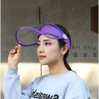 New 360 Degree Rotating Safety Face Shield Visor Clear Glasses Protector Hats