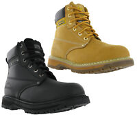 Mens Groundwork Leather Safety Steel Toe Cap Work Boots Shoes UK4-13