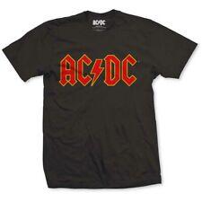 AC/DC Red Logo Men's Black T-Shirt Licensed Official Merchandise S M L XL