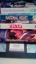 Classic LOT (5) VHS Leave Her to Heaven + National Velvet + Father Goose + Tulsa