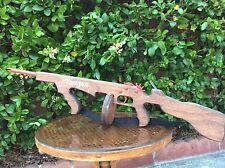 Vtg THOMPSON Indoor Target Rubberband Gun Powered Toy Rifle Tommy Gun 60's 70's