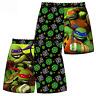 Boys Kids Mutant Nija Turtles TMNT Swimming Surf Suit Swim Board Shorts Trunks