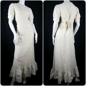 Vintage 1970's Gunne Sax Prairie Dress Size 12 Cottagecore Bohemian Wedding