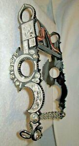 "Vintage Spade Western Silver Santa Barbara Show Bit #B-1691 MP-72 Black (5 1/2"")"