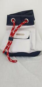 Ralph Lauren ~ Bucket Sport Bag Colour blocking White Red Navy