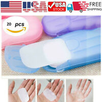 5 Set Travel Disposable Soap Tablets Portable Small Soap Tablets Mini Soap Paper