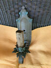 VINTAGE GOTHIC LOOKING METAL WALL SCONCE