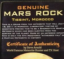 Nwa 6963 Mars Rock 18 mg Martian Meteorite Specimen See Label for more info