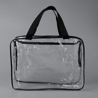Big Portable Clear PVC Cosmetic Makeup Case Bag Organizer Toiletry Bag Pouch