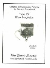 Complete Instructions and Parts List for Wico Type Ek Book Gas Engine Motor